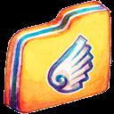 Folder, Wing Icon