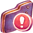 Folder, Important, Violet Icon