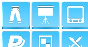 Blue Buttons Icons