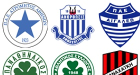 Greek Football Clubs Icons