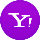 Circle, Flat, Yahoo Icon