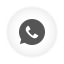Round, Whatsapp, White Icon