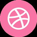 Dribbble, Round Icon