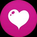 Circle, Flat, Heart Icon