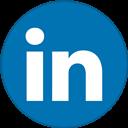 Border, Linkedin, Round, With Icon