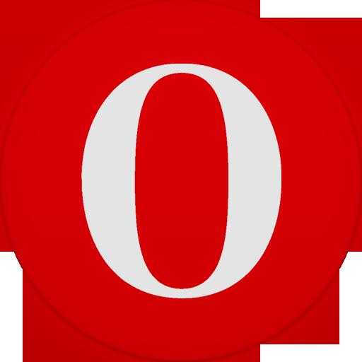 Circle, Flat, Opera Icon