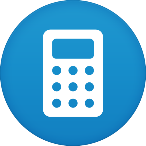 Calculator, Circle, Flat Icon