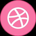 Border, Dribbble, Round, With Icon