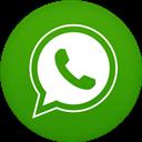 Circle, Flat, Whatsapp Icon