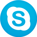 Circle, Flat, Skype Icon