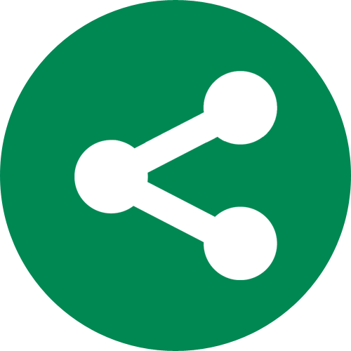 Round, Sharethis Icon