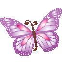 Butterfly, Purple Icon