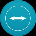 Circle, Flat, Teamviewer Icon