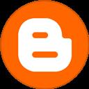 Blogger, Border, Round, With Icon