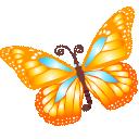 Butterfly, Orange Icon