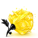 Cube, Rose, Yellow Icon