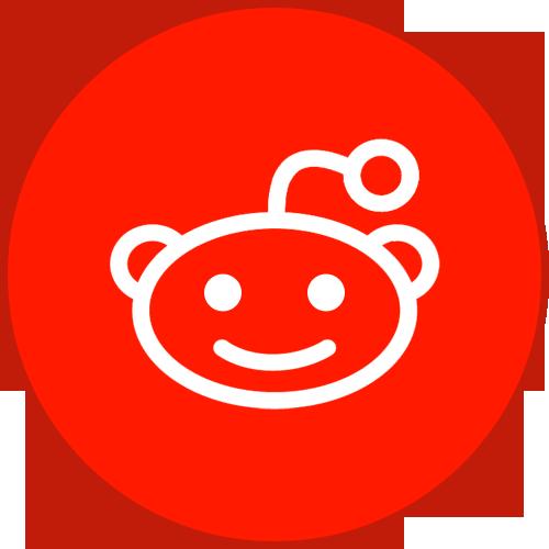 Border, Reddit, Round, With Icon