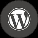Border, Round, With, Wordpress Icon