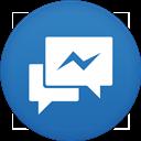 Circle, Facebook, Flat, Messenger Icon