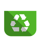 Bin, Full, Recycling Icon
