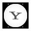 Round, White, Yahoo Icon