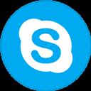 Border, Round, Skype, With Icon