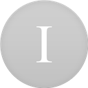 Circle, Flat, Instapaper Icon