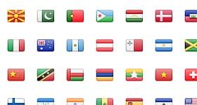 Stripe Flag Set Icons