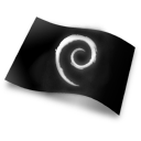 Black, Debian, Flag Icon