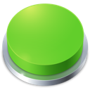 Button, Go, Green, Perspective Icon