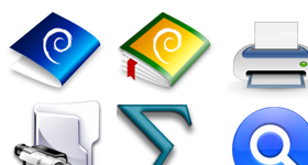 KDE Crystal Diamond Icons