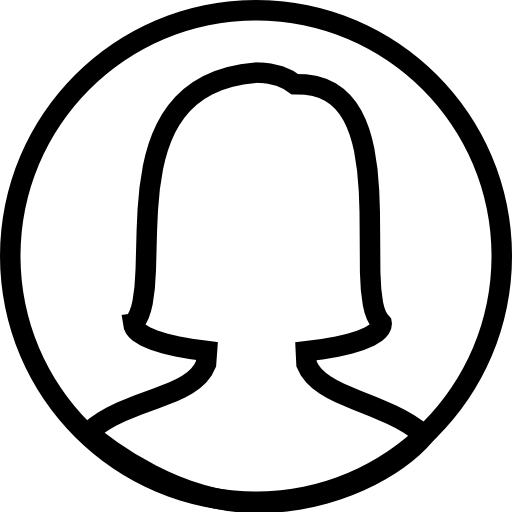 Circle, Female, User, Vector Icon