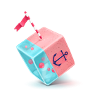 Cube, Sailing Icon