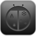 Dark, Weatherbug Icon