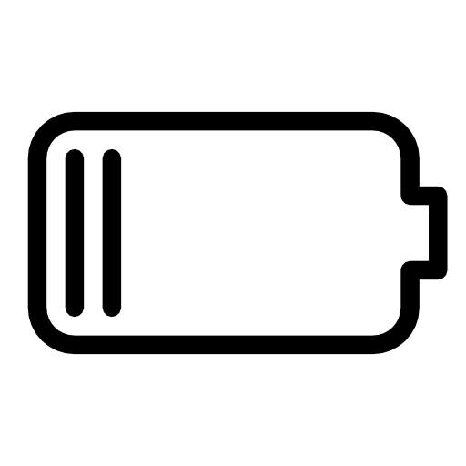 Battery, Low, Vector Icon