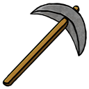 Pickaxe, Stone Icon