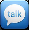 Blue, Google, Talk Icon