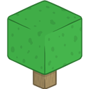 3d, Minecraft, Tree Icon