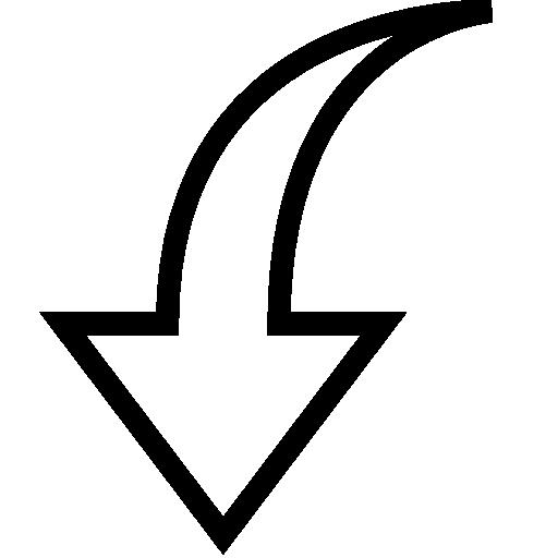 Alt, Arrow, Down, Vector Icon