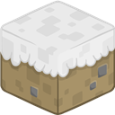 3d, Minecraft, Snow Icon