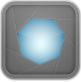 Aperture, Frame, Grey Icon