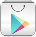 Centered, Google, Play Icon