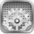 Ios, Metal, Settings Icon