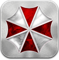 Corp, Silver, Umbrella Icon