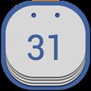 Calendar, Flat, Google, Round Icon
