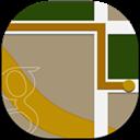Flat, Maps, Round Icon