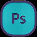 Flat, Photoshop, Round Icon