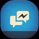 Facebook, Flat, Messenger, Round Icon