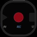 Flat, Recorder, Round Icon