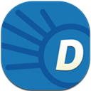 Dictionary, Flat, Round Icon